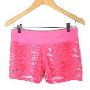 Under Armour Compression Shorts Womens M Pink